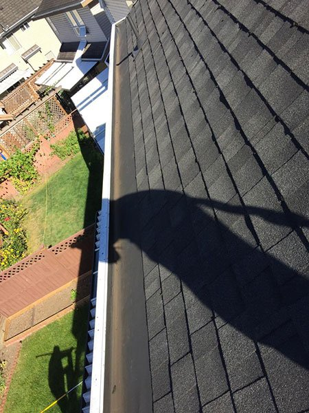 gutter cleaning after 3
