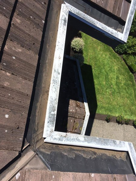 gutter cleaning after 4
