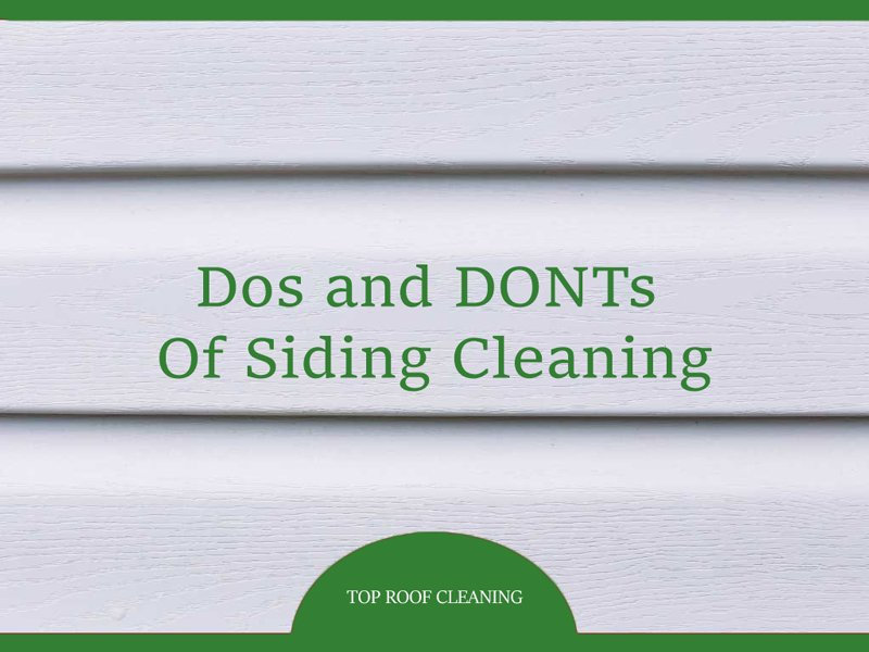 Professional Methods Of Siding Cleaning
